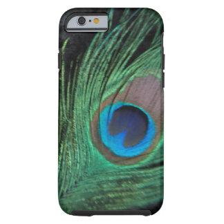 Black Velvet Peacock Feather Tough iPhone 6 Case