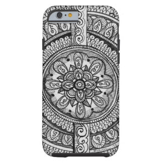 Black Velvet White Damask Dreamcatcher Mandala Art Tough iPhone 6 Case