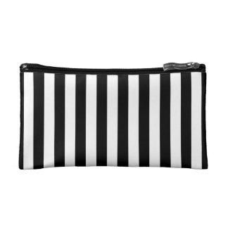 Black Vertical Stripes Makeup Bag