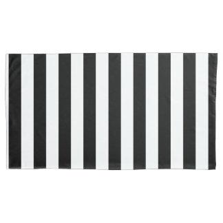 Black Vertical Stripes Pillowcase