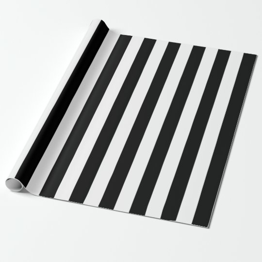 Black Vertical Stripes Wrapping Paper