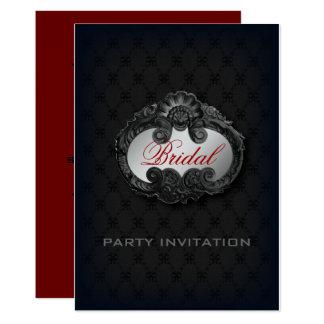 Black Victorian Gothic Vampire bridal shower Card