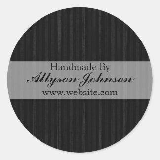 Black Vintage Background Handmade By Stickers