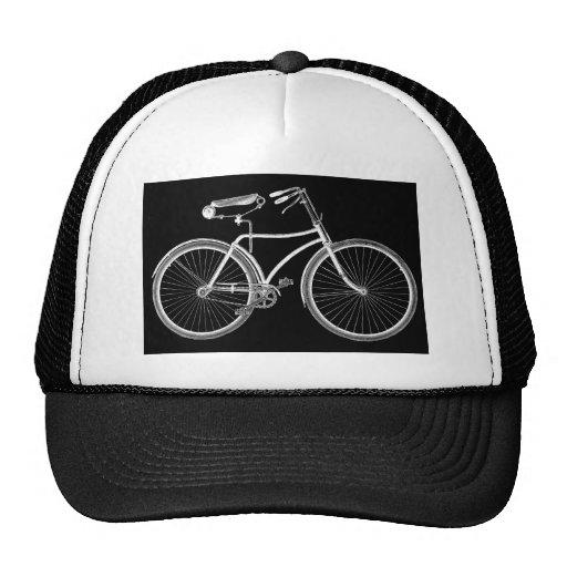 Black vintage bicycle antique retro cycling cap zazzle