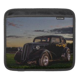 Black Vintage Car iPad Sleeve