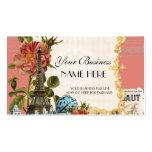 Black Vintage Eiffel Tower Rose Elegant Business Pack Of Standard Business Cards