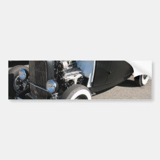 Black Vintage Hot Rod Bumper Sticker