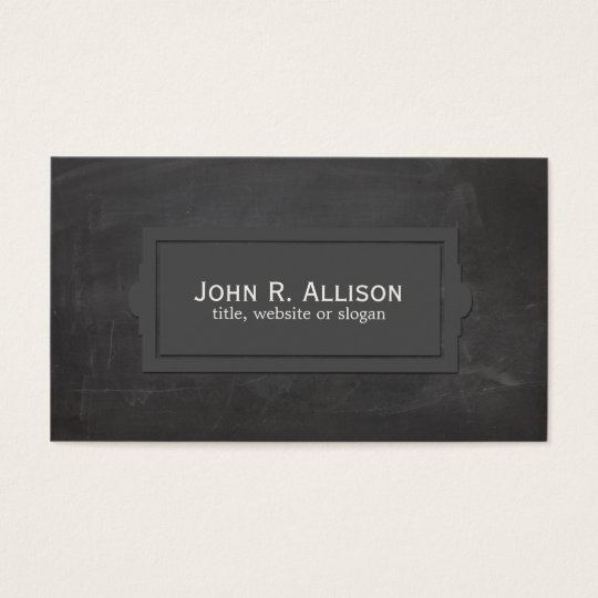 Black Vintage Rustic Plaque Style Business Card