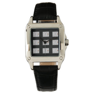 Black vintage watch Flowers