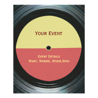 Black Vinyl Music Record Label Event Flyer