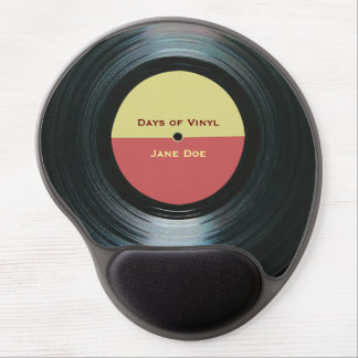 Black Vinyl Music Record Label Gel Mouse Pad