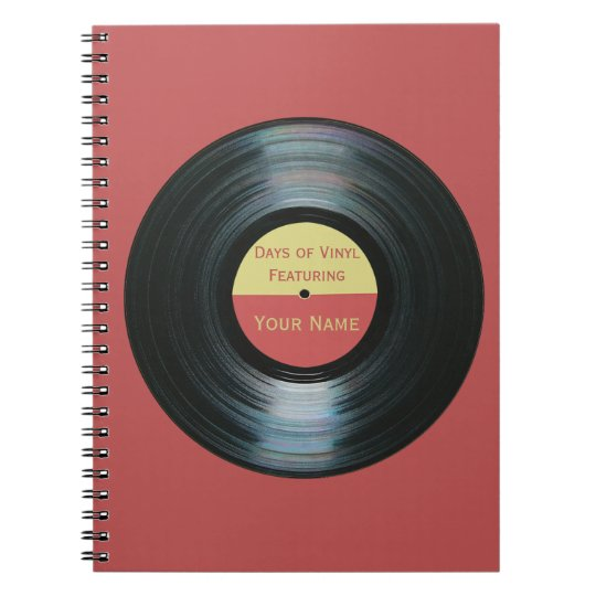 Black Vinyl Record Effect - Days of Vinyl Notebook
