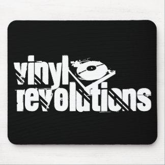 Black Vinyl Revolutions Mousepad