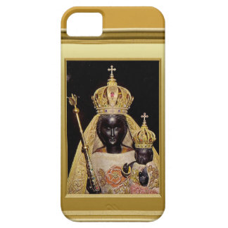 Black virgin Mary and child Jesus iPhone 5 Cases