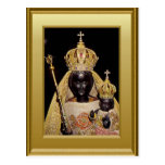 Black Virgin Mary and child Jesus Postcard