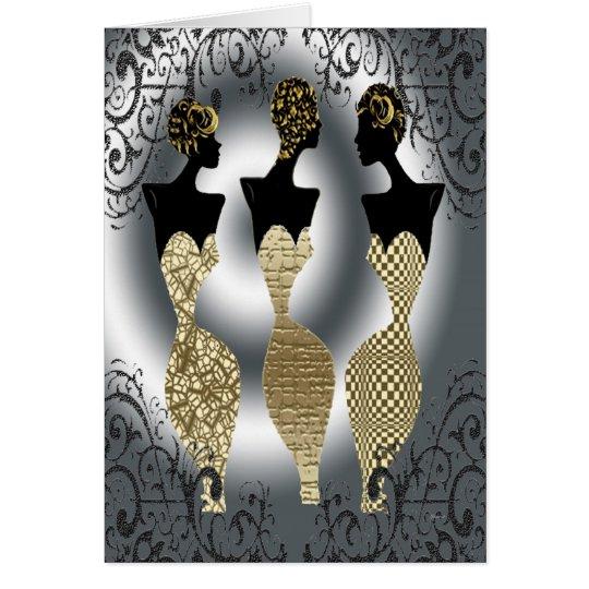 Black Vogue in Gold Card