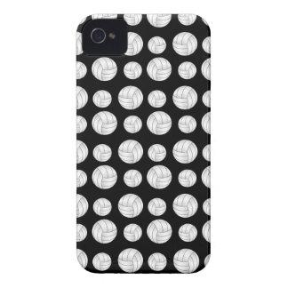 Black volleyballs pattern Case-Mate iPhone 4 case