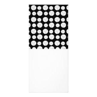 Black volleyballs pattern rack card template