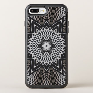 black vs white Mandala OtterBox Symmetry iPhone 8 Plus/7 Plus Case