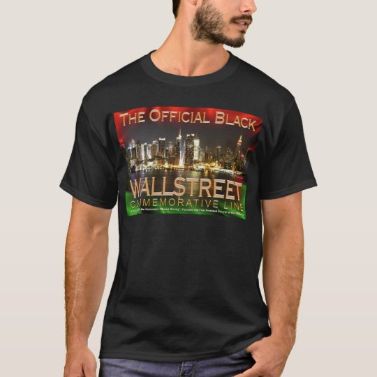 BLACK WALL STREET Basic Black T-Shirt