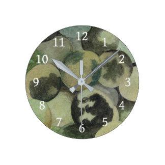 Black Walnuts Round Clock