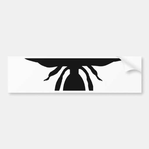 Black Wasp Silhouette Bumper Sticker