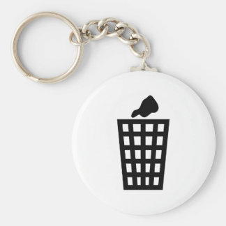 Black Waste Bin Key Ring