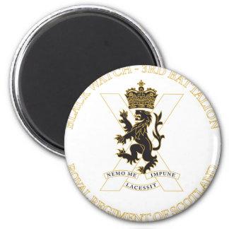 Black Watch 6 Cm Round Magnet