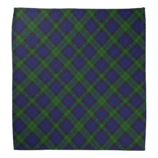 Black Watch clan tartan blue green plaid Bandana