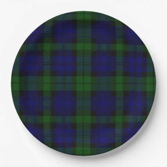 Black Watch clan tartan blue green plaid Paper