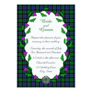 Black Watch Military Celtic Wedding Card