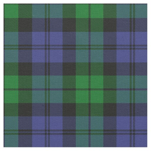 Black Watch Military Tartan Print Fabric