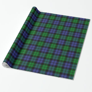 Black Watch Military Tartan Wrapping Paper