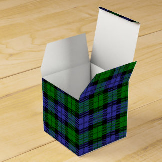 Black watch plaid party favour boxes