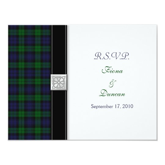Black Watch Tartan Celtic Response Card