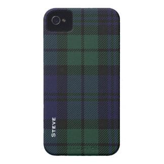 Black Watch Tartan Plaid iPhone 4 Case