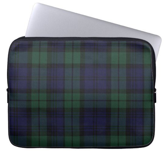 Black Watch Tartan Plaid Laptop Cover
