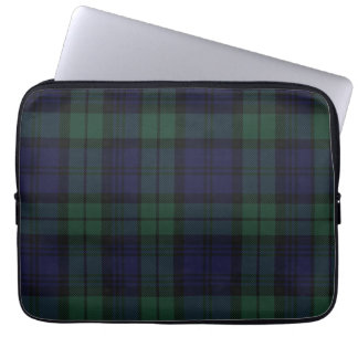 Black Watch Tartan Plaid Laptop Cover Computer Sleeves
