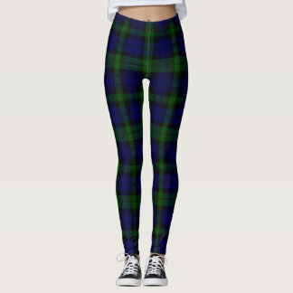 Black Watch tartan plaid Leggings