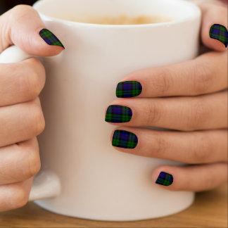 Black Watch Tartan Plaid Minx Nails Nail Sticker