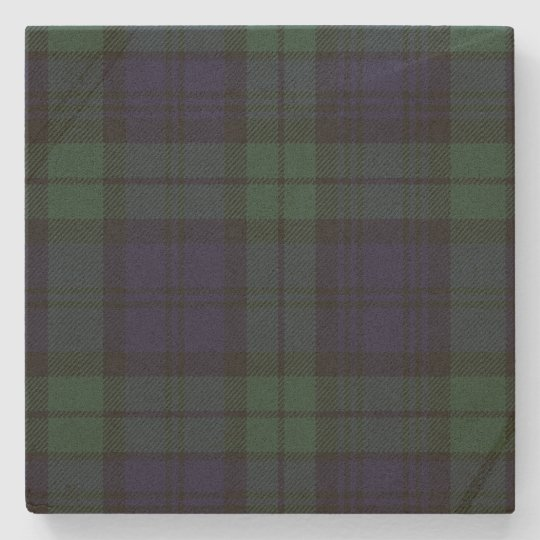 Black Watch Tartan Plaid Stone Coaster
