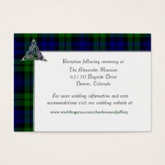 Black Watch Tartan Plaid Wedding Business Card