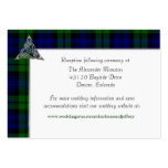 Black Watch Tartan Plaid Wedding Pack Of Chubby Business Cards