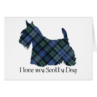 Black Watch Tartan Scottish Terrier Card