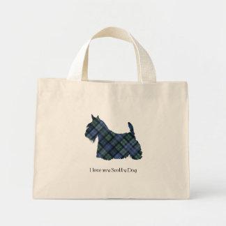 Black Watch Tartan Scottish Terrier Mini Tote Bag