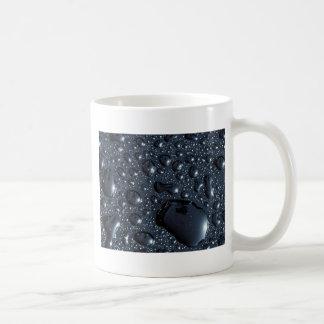 Black water drops mugs