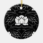 Black Water Lily Motif