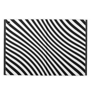 Black Wavy Stripes iPad Air Covers