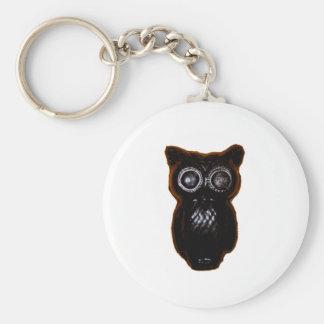Black Wax Halloween Owl Key Chain