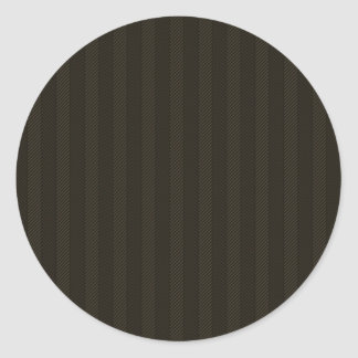 Black Weave Pattern Round Stickers
